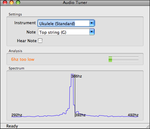 Audio Tuner for the Mac