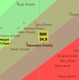 Biggest Loser BMI data