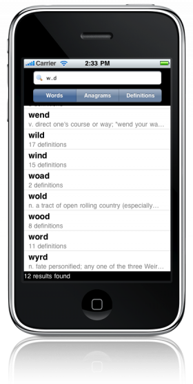 Word Nerd Crossword Solver for the iPhone