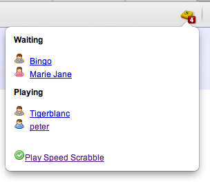 Speed Scrabble Chrome Extension Screenshot