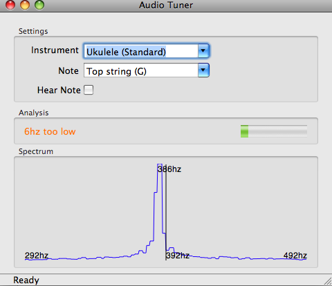 Audio Tuner on Mac OSX