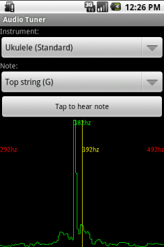 Audio Tuner in action